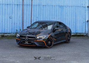 Oklejanie samochodów - Mercedes-Benz CLA 250 - Orange Edition